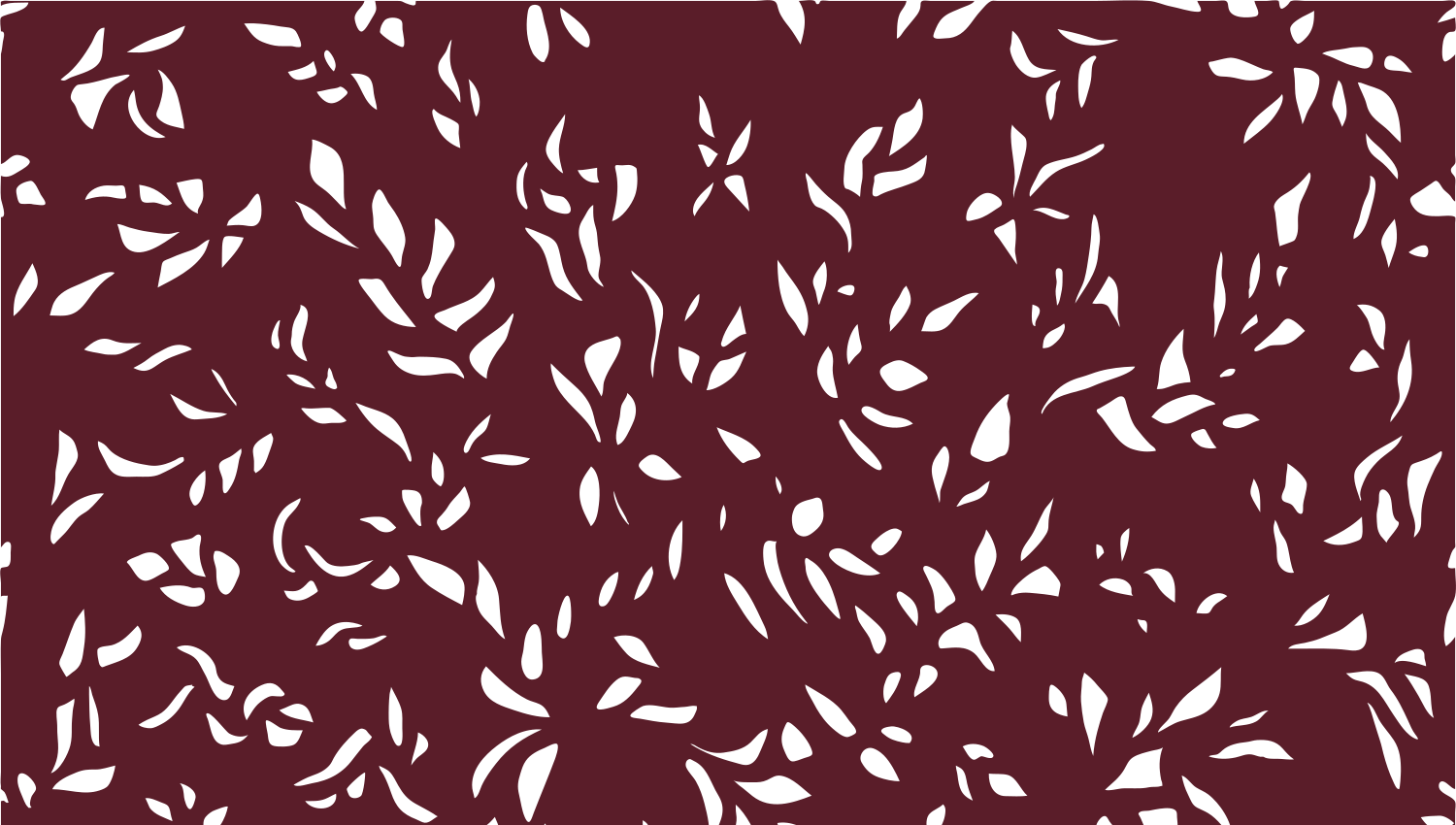 Parasoleil™ bb Leaves© pattern displayed with a burgundy color overlay