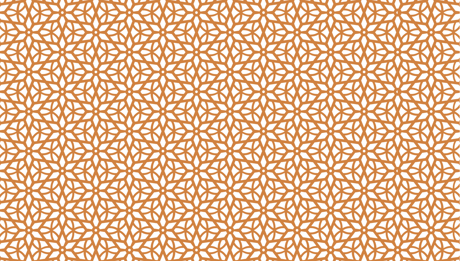 Parasoleil™ Boulder Flower© pattern displayed with a ochre color overlay