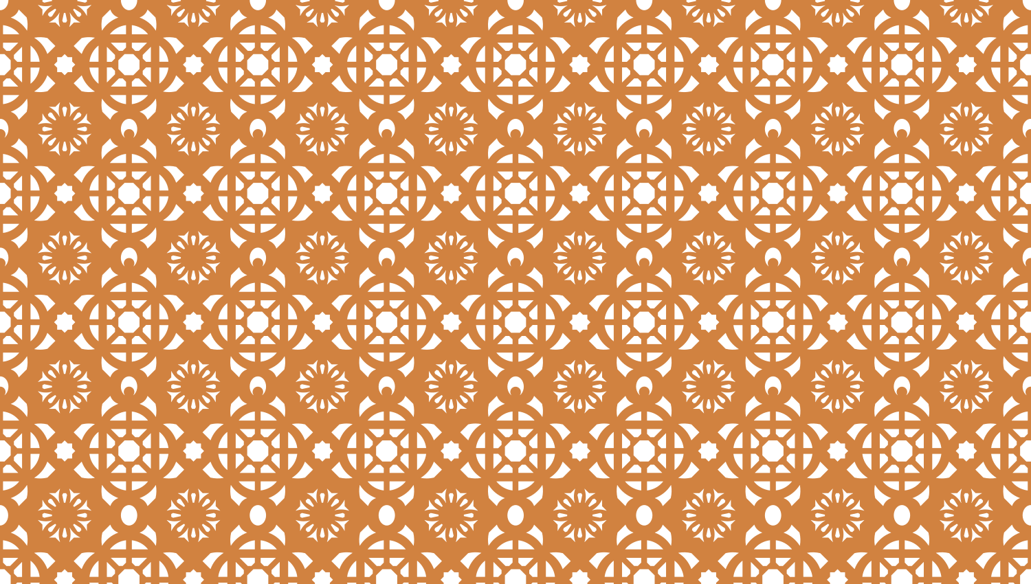 Parasoleil™ Casablanca© pattern displayed with a ochre color overlay