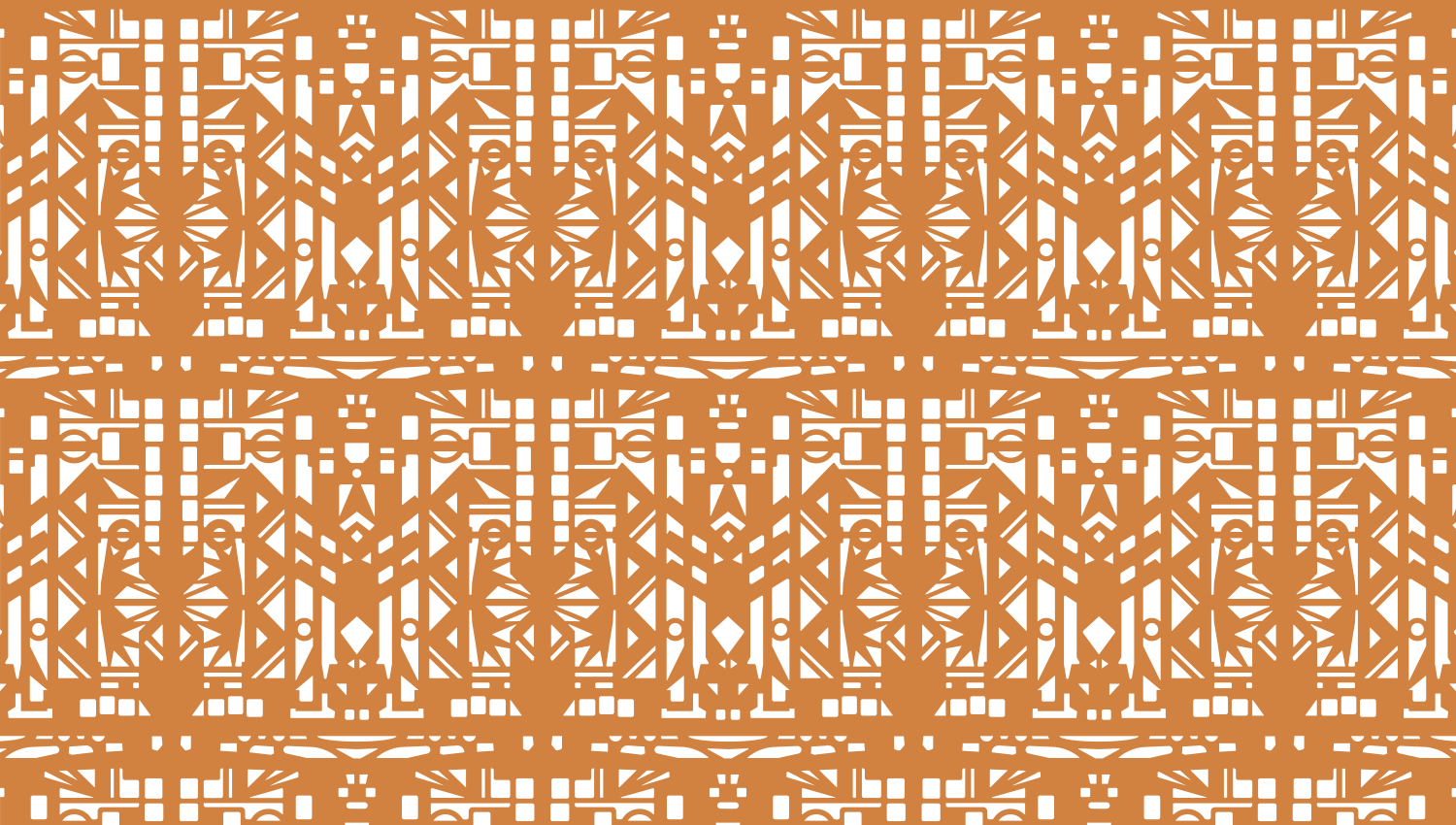 Parasoleil™ Kitty's Pattern© pattern displayed with a ochre color overlay
