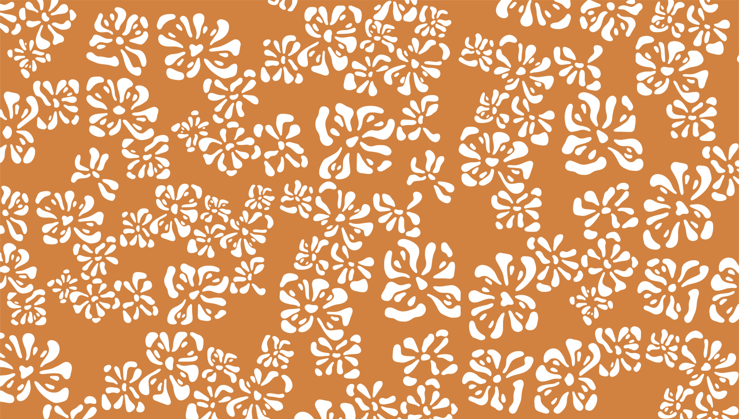 Parasoleil™ Magnolia© pattern displayed with a ochre color overlay
